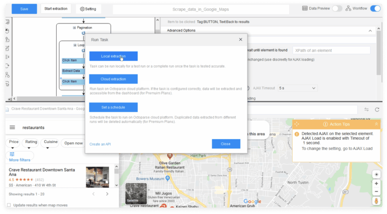 Google Map Data Scraping with Octoparse at DataOx 2
