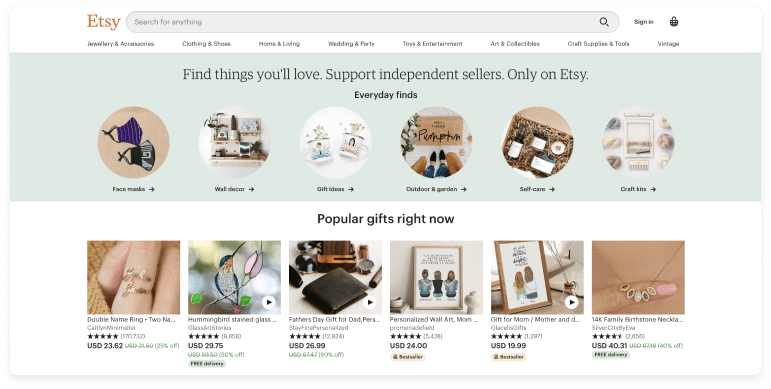 Screenshot from Etsy by Dataox